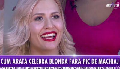 Dianna Rotaru, naturală și nemachiată! Vedeta a acceptat provocarea prezentatorilor de la Antena Stars București
