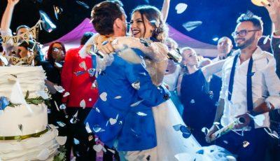 Doi miri din Moldova și-au impresionat invitații cu un tort spectaculos de nuntă