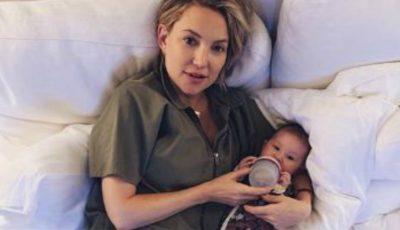 Modul complet neobișnuit în care își crește Kate Hudson fetița de 3 luni