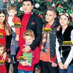 Foto: De sărbători, Cristi Borcea și-a strâns laolaltă cei șapte copii pe care îi are cu patru femei
