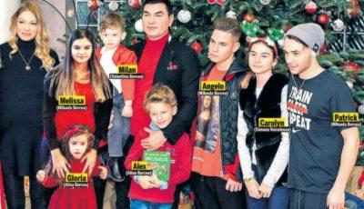 De sărbători, Cristi Borcea și-a strâns laolaltă cei șapte copii pe care îi are cu patru femei