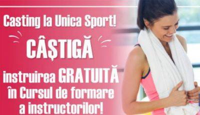 """Casting la Unica Sport! Fii norocoasa care va urma GRATUIT """"Cursul de Formare a Instructorilor"""" după metoda Unica"""