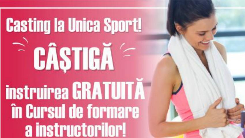 """Foto: Casting la Unica Sport! Fii norocoasa care va urma GRATUIT """"Cursul de Formare a Instructorilor"""" după metoda Unica"""