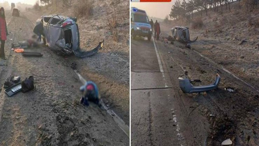 Foto: Accident violent în raionul Fălești. Foto