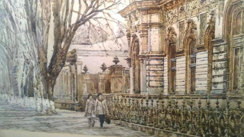Foto: Chișinăul vechi, într-o expoziție de picturi la sediul Alianței Franceze! Foto