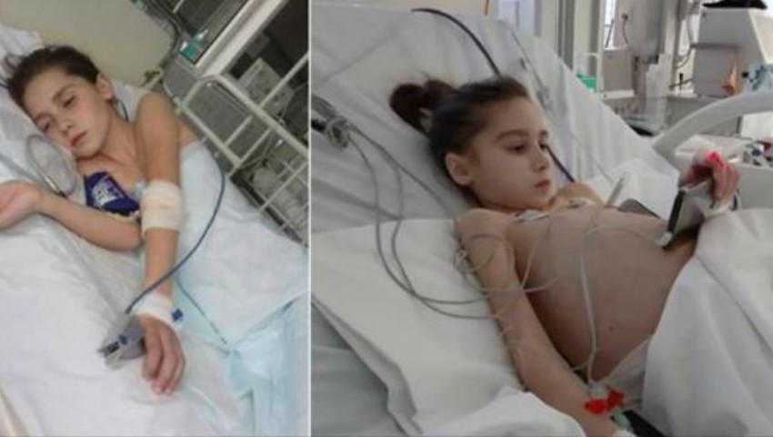 Foto: Detalii noi despre starea de sănătate a fetiței care a suportat un transplant de ficat