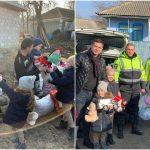 Foto: Șase copii crescuți doar de către tatăl lor au primit cadouri din partea angajaților INP