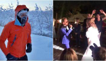 Moldoveanul care a alergat 50 de km la -60°C a compus o piesă de dragoste pentru soția sa. Vezi video!