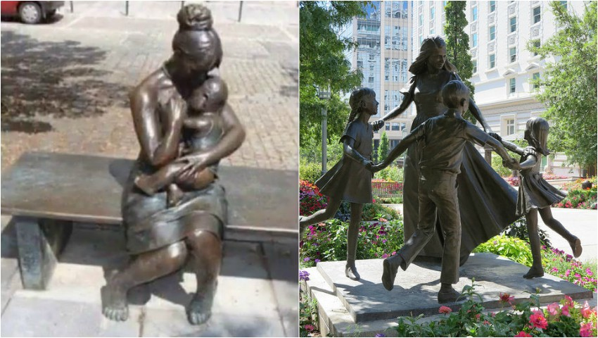 Foto: Cele mai emoționante sculpturi din lume dedicate mamelor!
