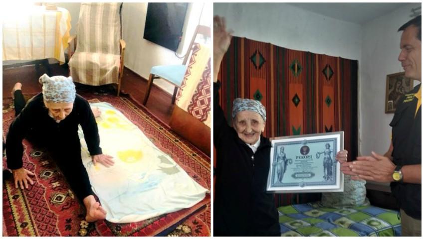 Face sfoara la 93 de ani. O bunicuță din Ucraina a intrat în Cartea Recordurilor!