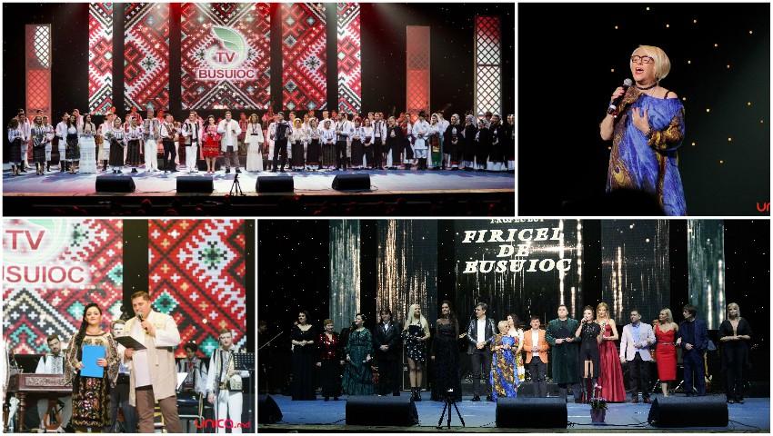 """Foto: Artiști autohtoni emeriți și oaspeți de peste Prut la grandiosul concert aniversar ,,Firicel de Busuioc"""" 2019! Galerie foto"""