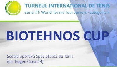 Jucători de tenis din 24 de țări vor lupta la Chișinău pentru trofeul Biotehnos Cup 2019!