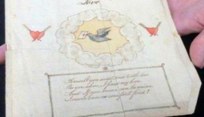 Cea mai veche felicitare de Valentine's Day din lume a fost trimisă în 1797. Ce scrie în ea?