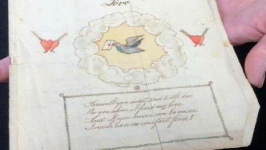 Foto: Cea mai veche felicitare de Valentine's Day din lume a fost trimisă în 1797. Ce scrie în ea?