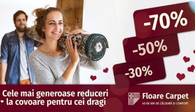 Cele mai generoase reduceri la covoare pentru cei dragi: -30% -50% -70%