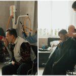 Foto: Gest nobil! Un salon din capitală a oferit tunsori gratuite bătrâneilor de la Azilul Republican