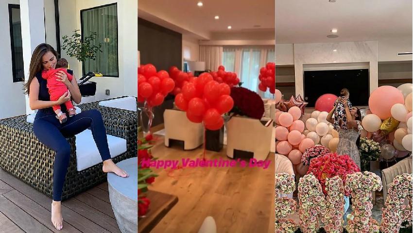 Foto: Xenia Deli și fiica sa au fost răsfățate de Valentine's Day! Vezi cum și-a surprins fetele bărbatul casei