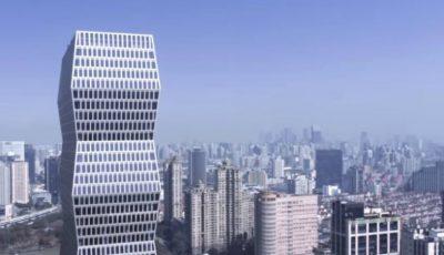 """Video! În Shanghai a fost inaugurată o clădire spectaculoasă inspirată de sculptura """"Coloana infinitului"""" a lui Constantin Brâncuși"""