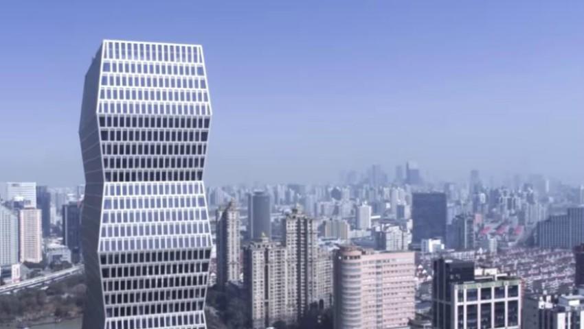 """Foto: Video! În Shanghai a fost inaugurată o clădire spectaculoasă inspirată de sculptura """"Coloana infinitului"""" a lui Constantin Brâncuși"""