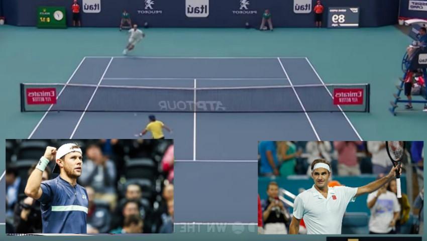 Meci spectaculos! Radu Albot a jucat în premieră cu numărul 5 mondial, Roger Federer. Elvețianul, impresionat de sportivul moldovean
