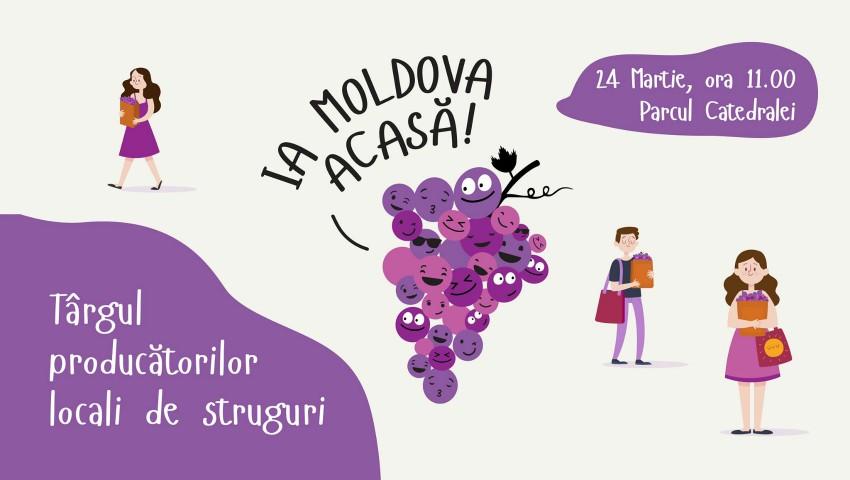Foto: Producătorii din Moldova invită chișinăuienii la Târgul de struguri!