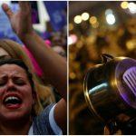 Foto: De 8 martie, femeile din Spania au ieșit la protest cu oale și tigăi