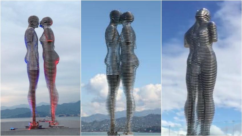 Foto: Celebra statuie mișcătoare din Georgia fascinează turiștii din întreaga lume. Video!