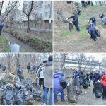 Foto: 6.000 de saci cu deșeuri au fost adunați de pe albia râului Bîc și celorlalte bazine de apă care traversează Capitala