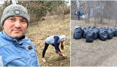 Costi Burlacu a renunțat pentru o zi la viața de artist, în folosul mediului