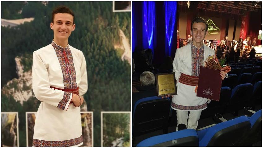 """Foto: Interpretul Gabriel Nebunu a fost premiat la concursul ,,Florile Ceahlăului"""" din Piatra Neamț!"""