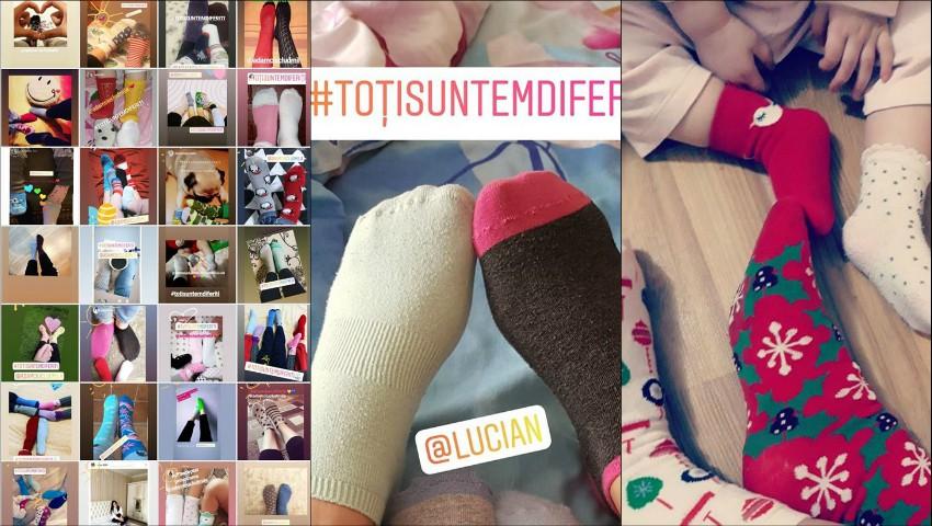 Foto: Un nou challenge circulă pe Instagramul moldovenesc. Internauții încalță ciorapi diferiți, în susținerea copiilor cu Sindromul Down