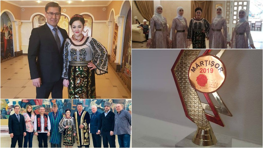 Foto: Emoții până la lacrimi! Interpreta Lenuța Gheorghiță a cântat cu dor pentru comunitatea basarabenilor și românilor din Kazahstan