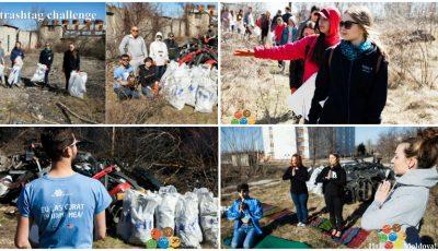 """Echipa și voluntarii """"Hai, Moldova!"""" au evacuat 100 de saci de gunoi și o remorcă cu piese uzate de la marginea Parcului """"Muzeul Satului"""""""