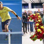 Foto: Radu Albot a revenit acasă! Tenismenul a fost întâmpinat cu aplauze la Aeroportul Chișinău