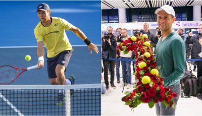 Radu Albot a revenit acasă! Tenismenul a fost întâmpinat cu aplauze la Aeroportul Chișinău