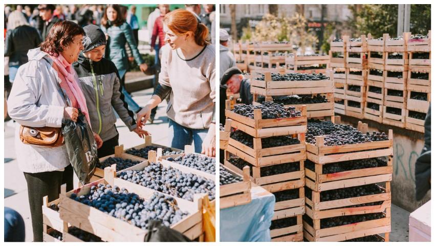 Foto: La ce preț se vor vinde strugurii și merele la Târgul de duminică din Parcul Catedralei?
