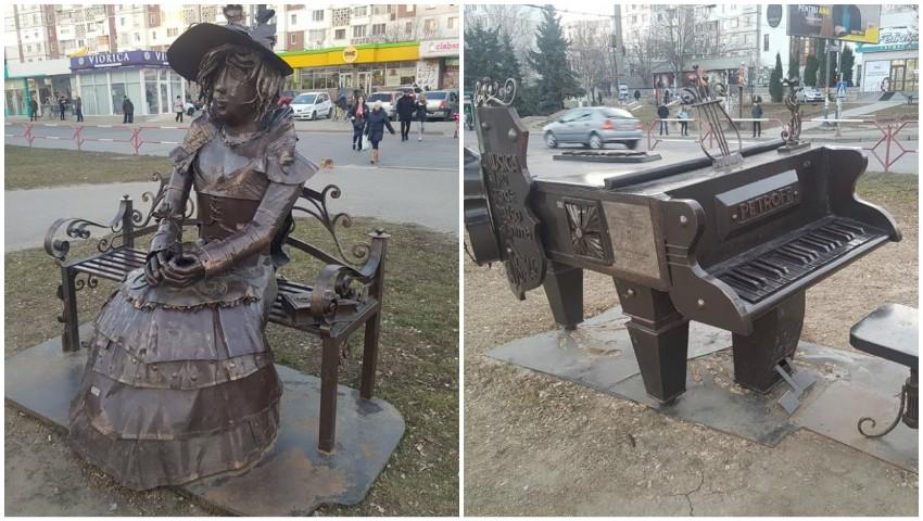 Foto: În Chișinău a apărut o nouă sculptură!