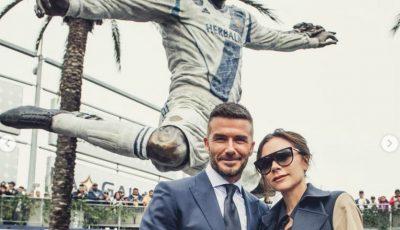 O statuie de bronz a lui David Beckham a fost instalată în fața clubului L. A. Galaxy
