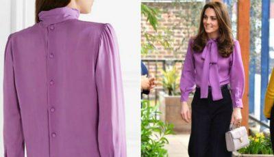 Kate Middleton a îmbrăcat o bluză cu spatele în față. A făcut-o în mod intenționat?