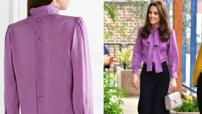 Foto: Kate Middleton a îmbrăcat o bluză cu spatele în față. A făcut-o în mod intenționat?