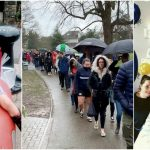 Foto: Mii de oameni au stau în ploaie pentru a salva viața unui copil