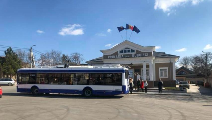 Foto: O nouă rută de troleibuze în municipiul Chișinău