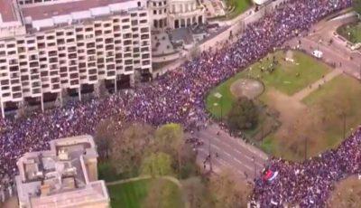 Protest masiv în Londra. Un milion de oameni cer anularea Brexit