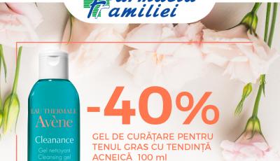 În luna aprilie, bucură-te de reduceri de până la 40% la produsele cosmetice Avène!