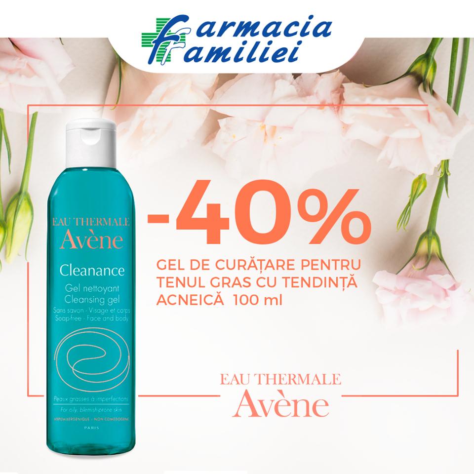 Foto: În luna aprilie, bucură-te de reduceri de până la 40% la produsele cosmetice Avène!