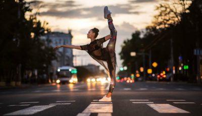 O balerină moldoveancă, stabilită în Germania, a devenit eroina unui proiect fotografic inedit