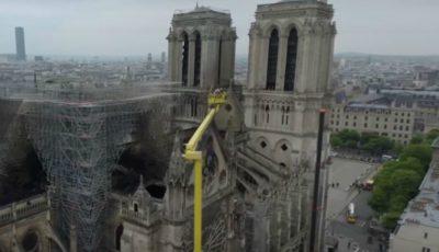 Video! Imagini surprinse cu drona de la Catedrala Notre Drame. Ce-a mai rămas din ea!