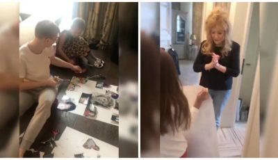 Ce surpriză au pregătit copiii Kristinei Orbakaite pentru bunica lor, Alla Pugacheva! Vezi video
