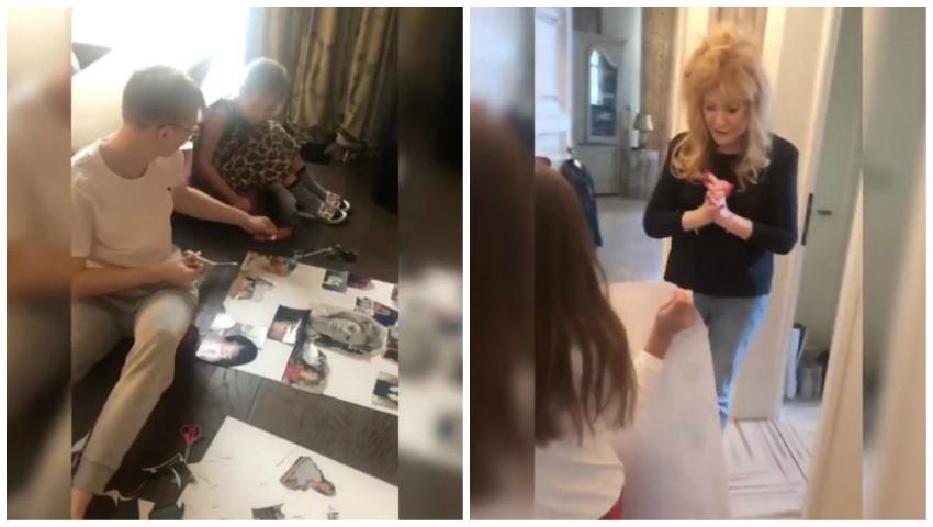 Foto: Ce surpriză au pregătit copiii Kristinei Orbakaite pentru bunica lor, Alla Pugacheva! Vezi video