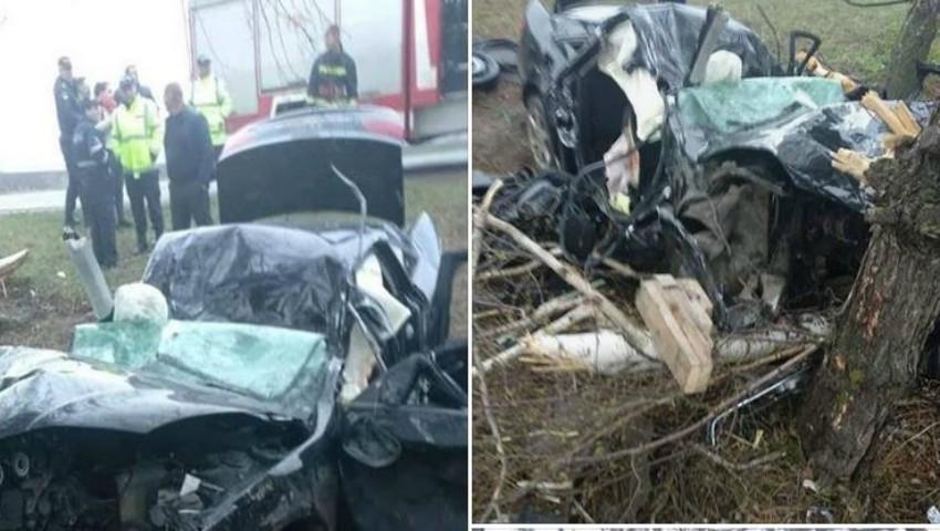 Foto: Accident cumplit la Drochia. Operațiune dificilă de descarcerare